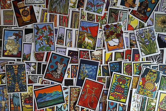 Mystery Cards - 10 Pack - Sarah Angst Art Greeting Cards, Giclee Prints, Jewelry, More