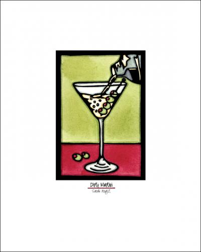 Dirty Martini - Simple Giclee Print - Sarah Angst Art Greeting Cards, Giclee Prints, Jewelry, More