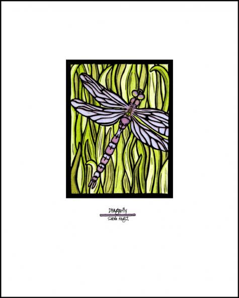 "Dragonfly - 8""x10"" Overstock - Sarah Angst Art Greeting Cards, Giclee Prints, Jewelry, More"