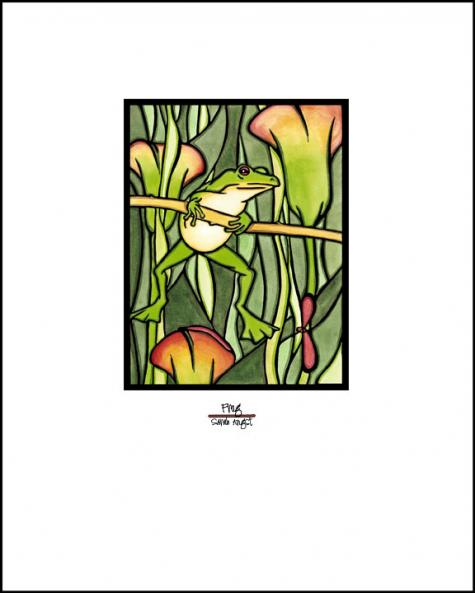 "Frog - 8""x10"" Overstock - Sarah Angst Art Greeting Cards, Giclee Prints, Jewelry, More"