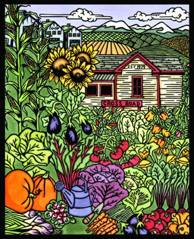 Original - From Garden to Market - Sarah Angst Art Greeting Cards, Giclee Prints, Jewelry, More