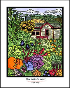 "Garden - 8""x10"" Overstock - Sarah Angst Art Greeting Cards, Giclee Prints, Jewelry, More"