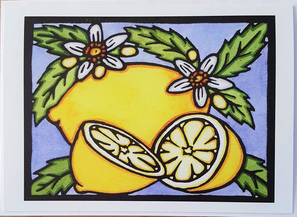 Lemons - 242 - Sarah Angst Art Greeting Cards, Giclee Prints, Jewelry, More