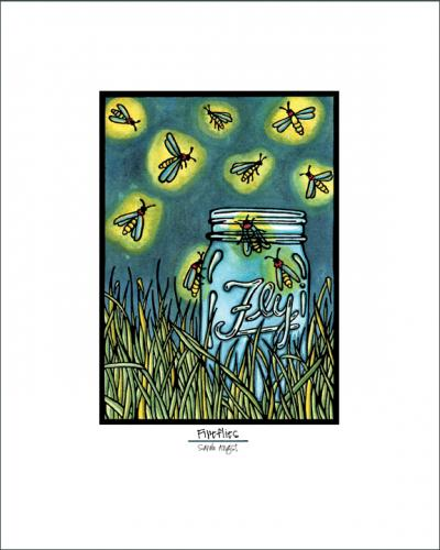 Fireflies - Simple Giclee Print - Sarah Angst Art Greeting Cards, Giclee Prints, Jewelry, More