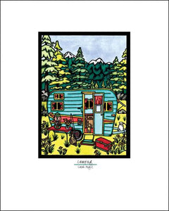 "Camping - 8""x10"" Overstock - Sarah Angst Art Greeting Cards, Giclee Prints, Jewelry, More"