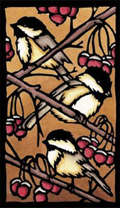 Original - Three Chickadees