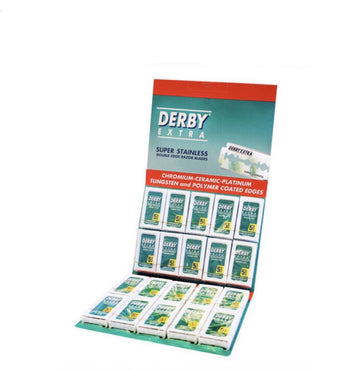 DERBY EXTRA Hanging card 100X DOUBLE BLADES (GREEN)