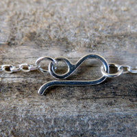 Hand forged sterling silver hook clasp