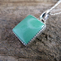 Lucin variscite and sterling silver pendant