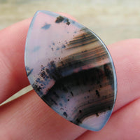 Back of large Montana agate cabochon