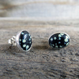 New Land and sterling silver stud earrings