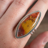 Red and yellow jasper ring