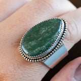 Size 9 amazonite and sterling silver ring