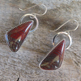 Australian snakeskin and sterling silver earrings