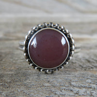 Utah agate and sterling silver ring