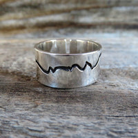 Wide band mountain ring back