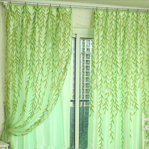 Willow Tulle Sheer Window Curtain Drape Panel - 39 x 78.5 in