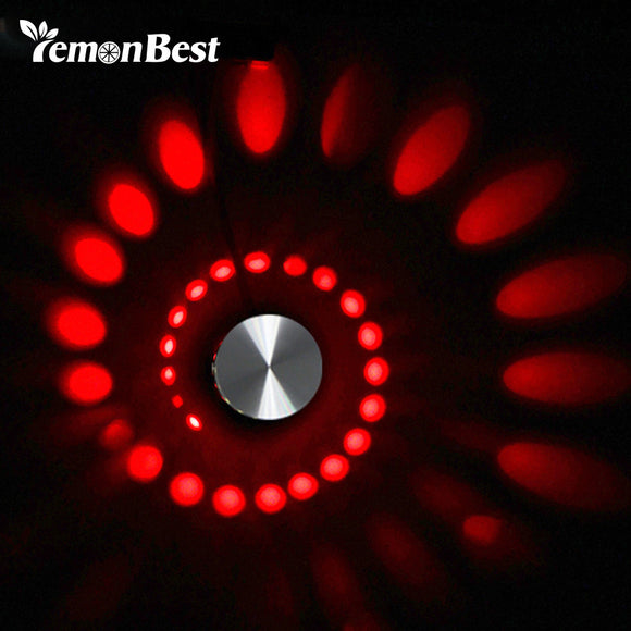 Cyclone Style LED Wall Light w/ Remote Control