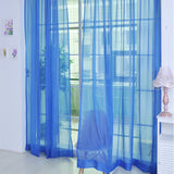 Sheer Solid-Colored Window Curtains