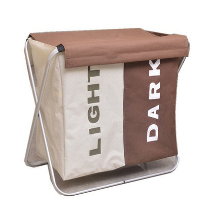 Light and Dark Laundry Basket