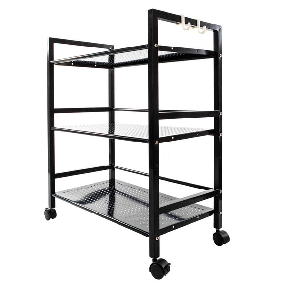 3-Tiered Multifunctional Black Storage Cart