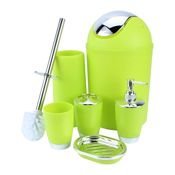 6-Piece Plastic Bathroom Set