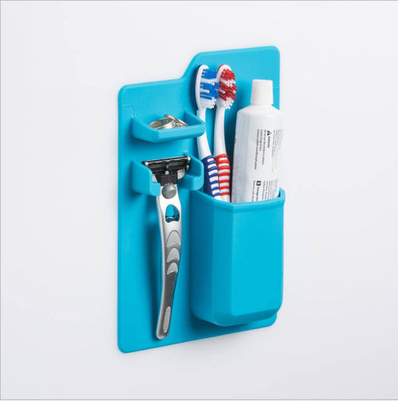 Bathroom Toothpaste and Razor Wall Holder