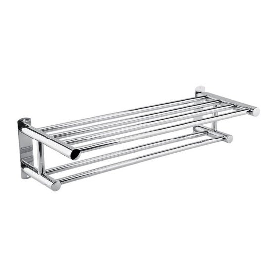 Stainless Steel Wall-Mounted Towel Rack