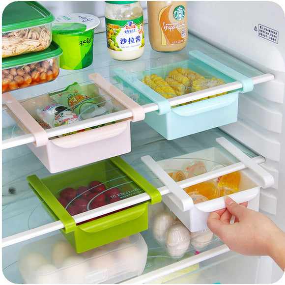 Refrigerator or Freezer Space Saver Storage Rack