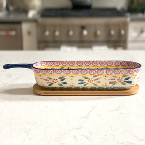 Tara's Must Haves Old World Baker & Server w/ Bamboo Lid