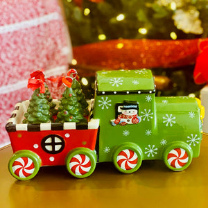 Stoneware 5-piece Train Set