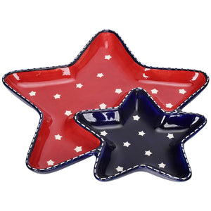 Star Stitched Chip & Dip Platter