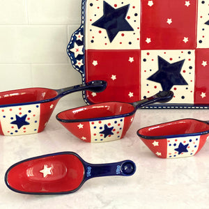 Star Stitched Measuring Scoops