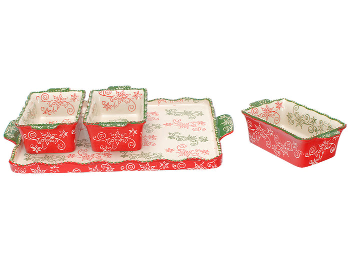 Temp-tations Floral Lace Mini Loaf Pan Set