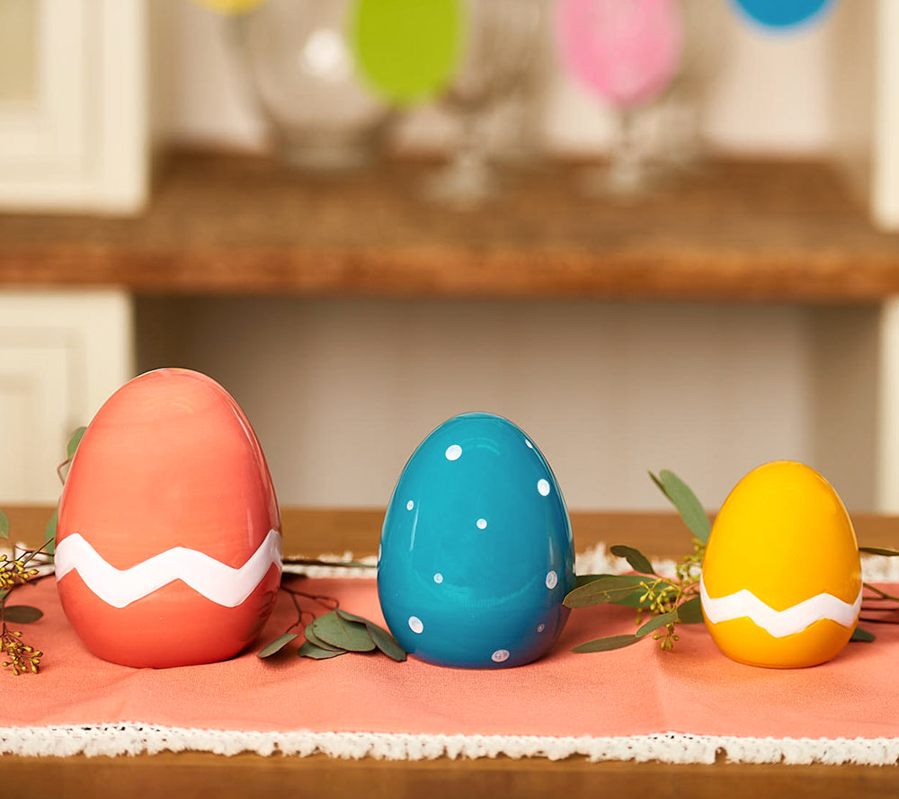 Set of 3 Ceramic Eggs