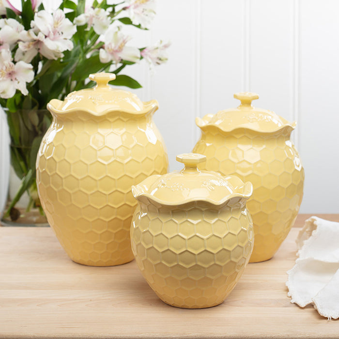 Set of 3 Bee-lieve Canisters