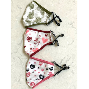 Set of Three Fabric Face Coverings