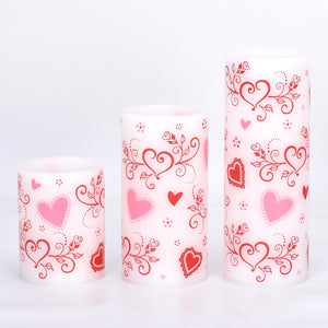 Set of Three Staggered Flameless Candles