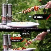 "Load image into Gallery viewer, Kebob Stainless Steel Skewers for Grilling - 16"" Long - 8 Pack - Flafster Kitchen"
