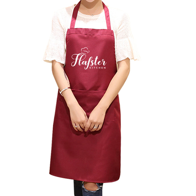 Flafster Kitchen Apron- Red - Flafster Kitchen