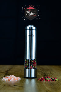 Battery Powered Stainless Steel Salt or Pepper Mill - Flafster Kitchen