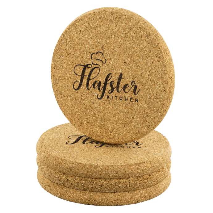 Flafster Kitchen Round Cork Coaster - Flafster Kitchen