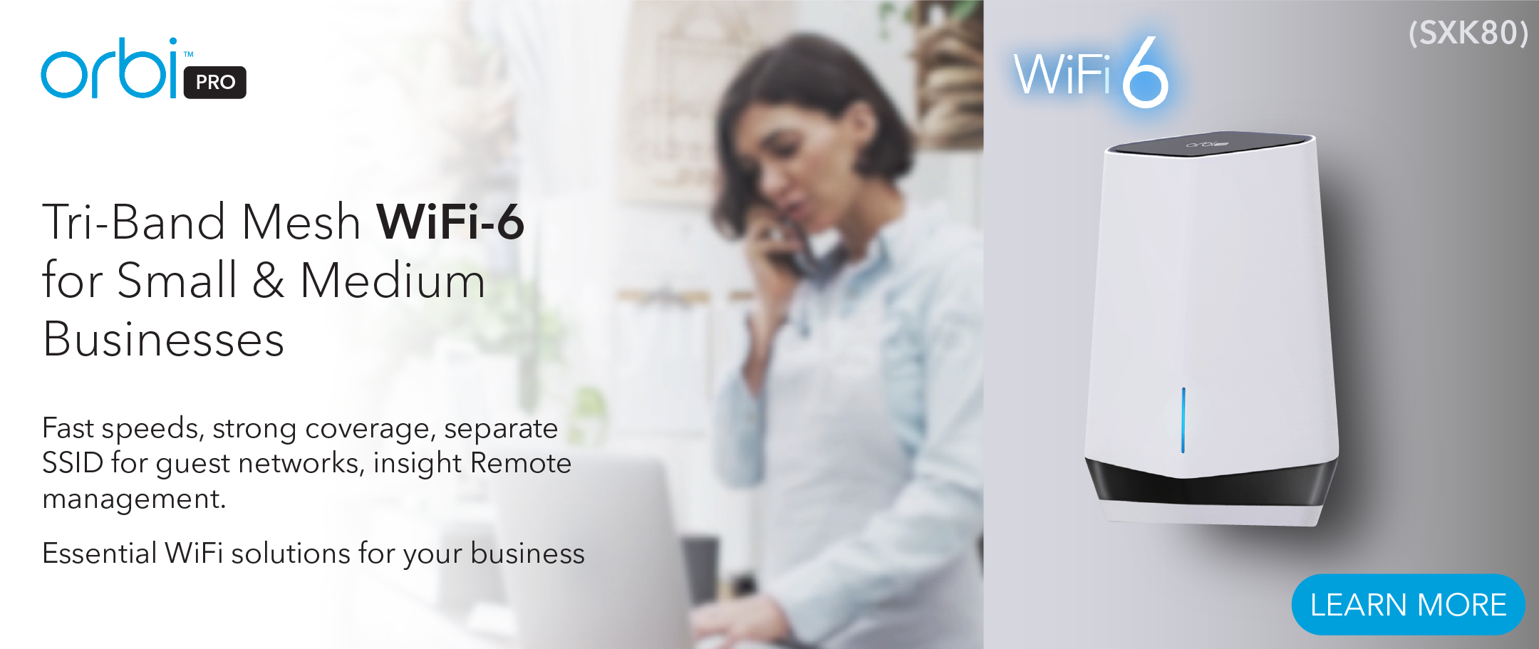 Orbi Pro Mesh WiFi System for Businesses