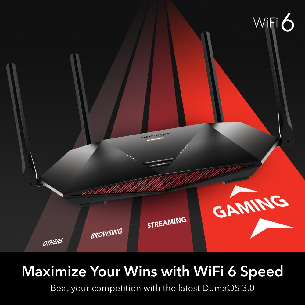 Nighthawk XR1000 Pro Gaming WiFi 6 Router with DumaOS 3.0 - AX5400