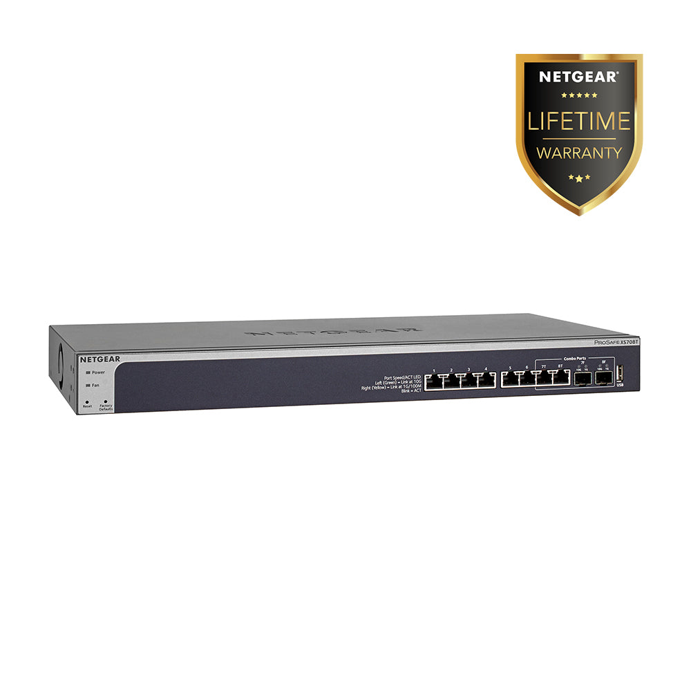 XS708T - 8 Port 10G Smart Managed Switch