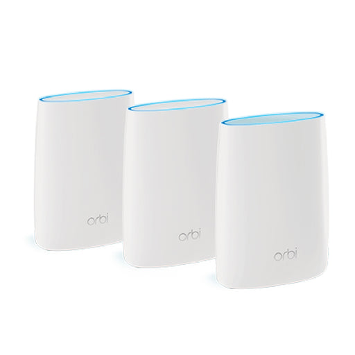 Orbi RBK53 Tri Band Mesh WiFi System - AC3000  (1 Router + 2 Satellites)