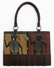 Load image into Gallery viewer, Mudcloth and Leather Large Tote