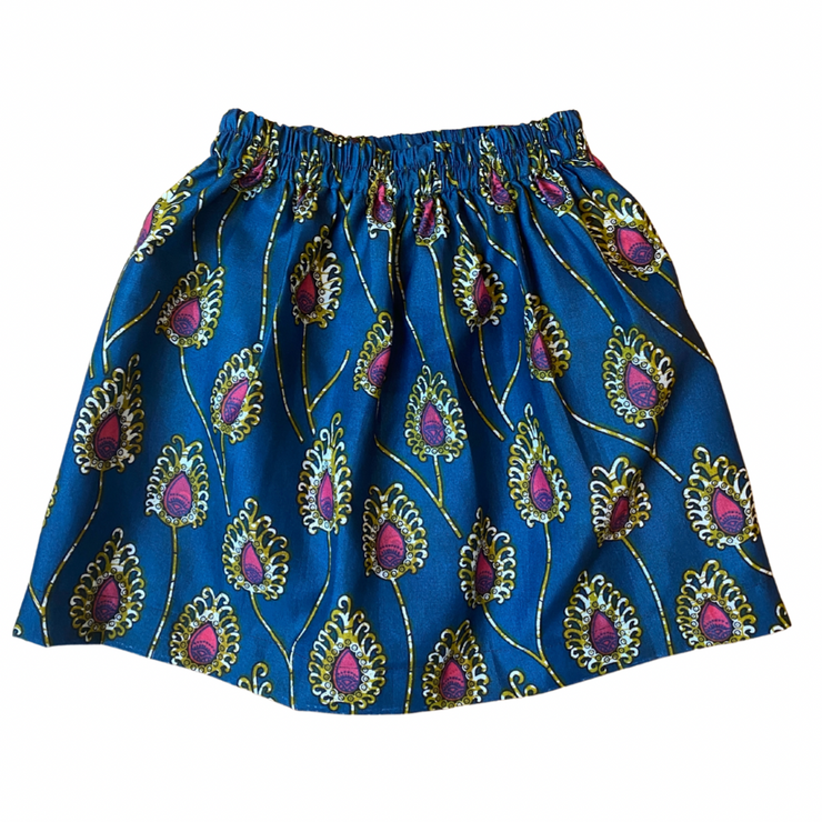 Girl's Skirt - Blue Peacock