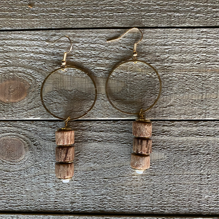 Earrings - Wood