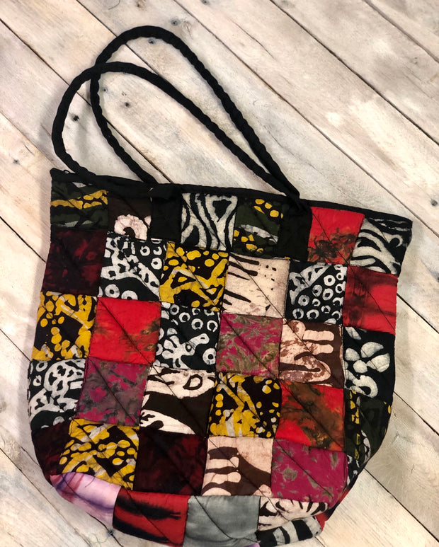 Patchwork Quilted Tote - Medium